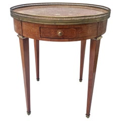 Marble Top French Bouillotte Table