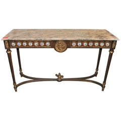 Marble-Top Hall Table