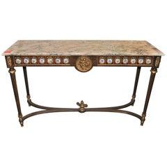 Hallen Tisch mit Marmorplatte
