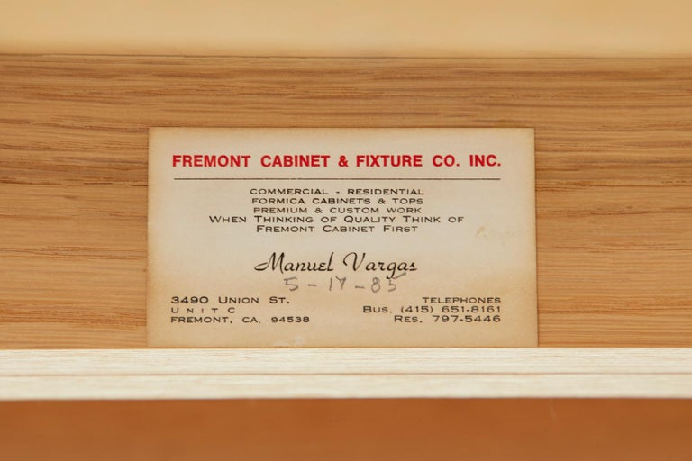 Marble-Top Oak Executive Pedestal Desk with Demilune Ends For Sale 13