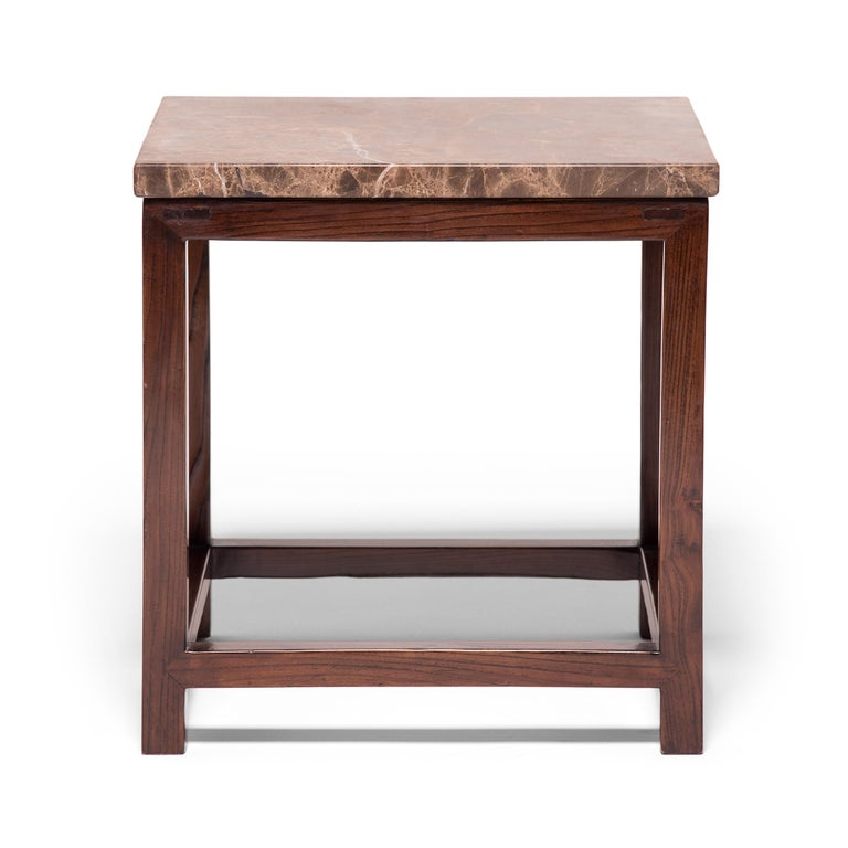 Qing Marble-Top Square Table For Sale