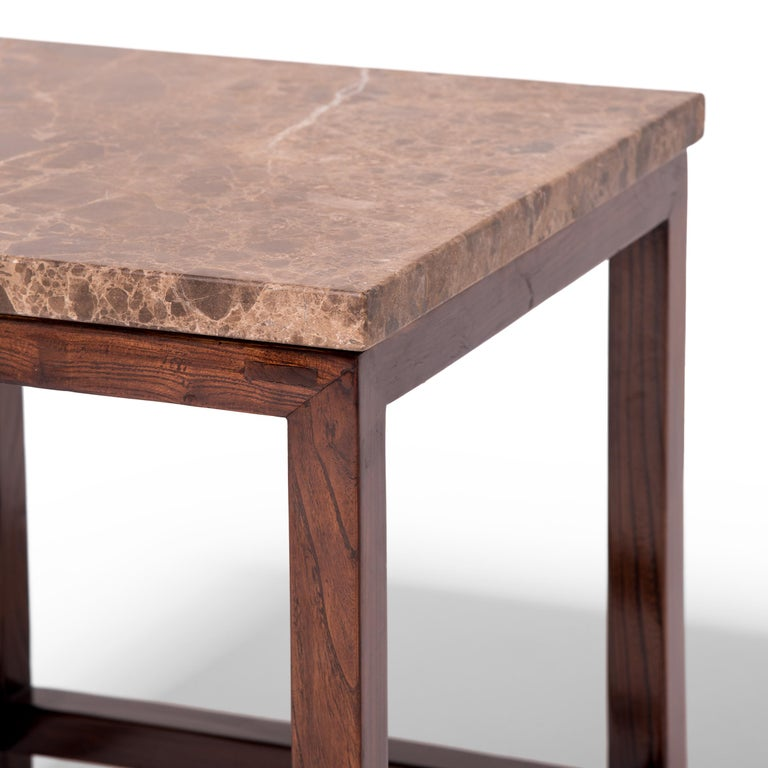 20th Century Marble-Top Square Table For Sale