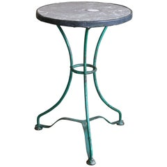 Marble-Topped Bistro Table or Gueridon from France
