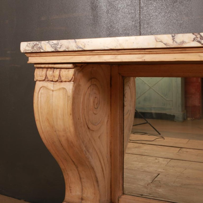 Marble Topped Console Table In Good Condition For Sale In Leamington Spa, Warwickshire