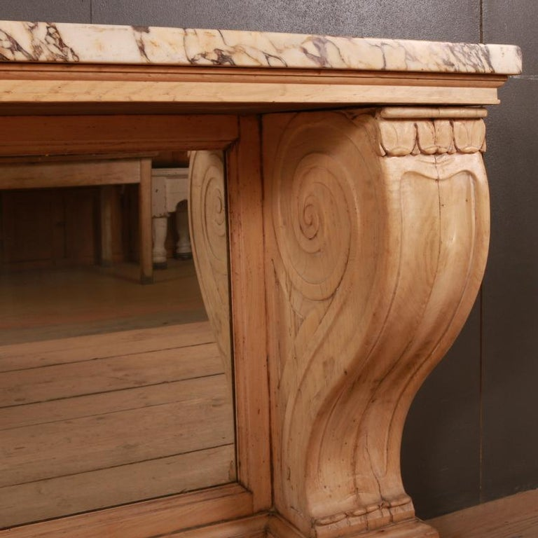 19th Century Marble Topped Console Table For Sale