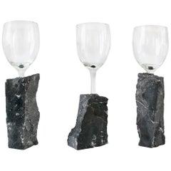 Marble Wine Glass Set by Inderjeet Sandhu