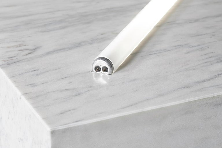 Modern Marble with Fluorescent Tube Lamps For Sale