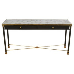 Marbled Mirror Top Console