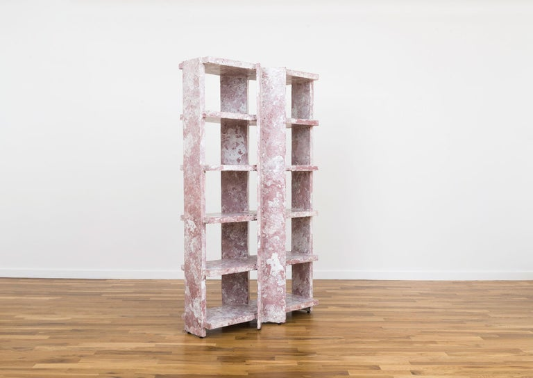 Marbled Shelf is Presented by Volume Gallery  Marbled shelf by Ross Hansen is a wonderful storage piece for one's home.