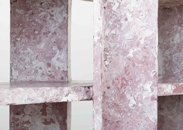 Modern Marbled Shelf by Ross Hansen For Sale