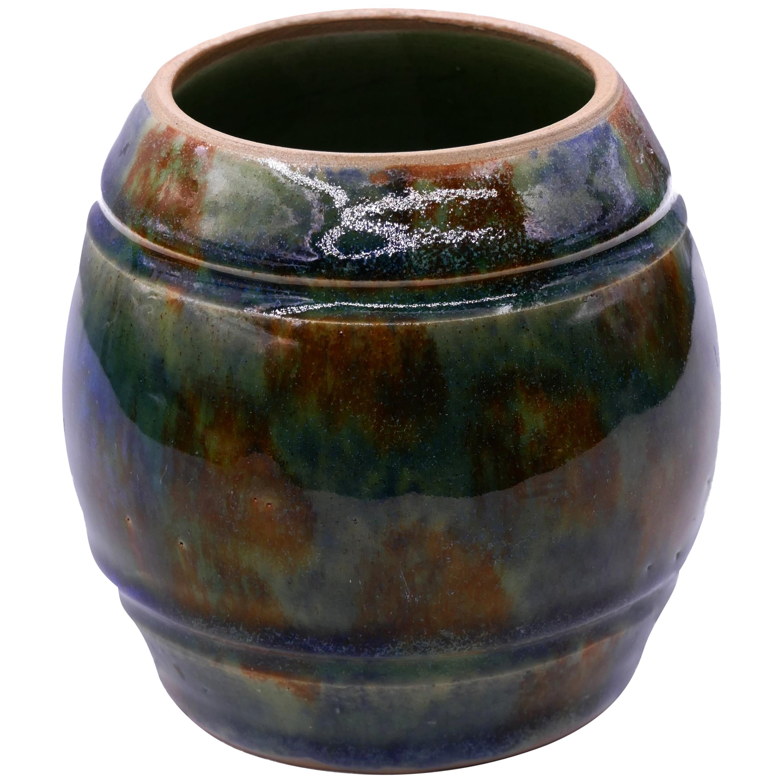 Marbled Vase Ceramic, 1950s