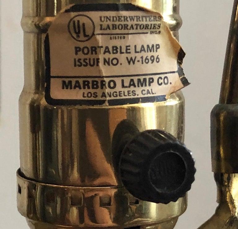 18th Century Marbro Oxblood Elephant-handled Chinese Urn Table Lamp Sangre de Boeuf Regency For Sale