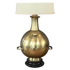 "Marbro Monumental Solid Brass ""Diving Bell"" Table Lamp"