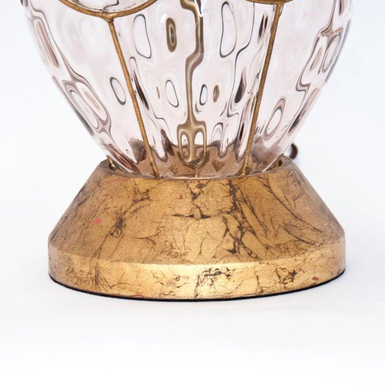 Italian Marbro Murano Caged Glass Lamp For Sale