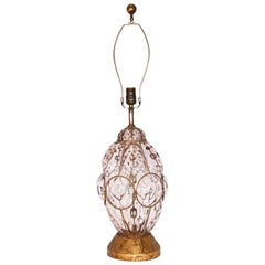 Marbro Murano Caged Glass Lamp