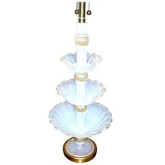 Marbro Murano Glass Three-Tier Center Piece Fitted as a Lamp