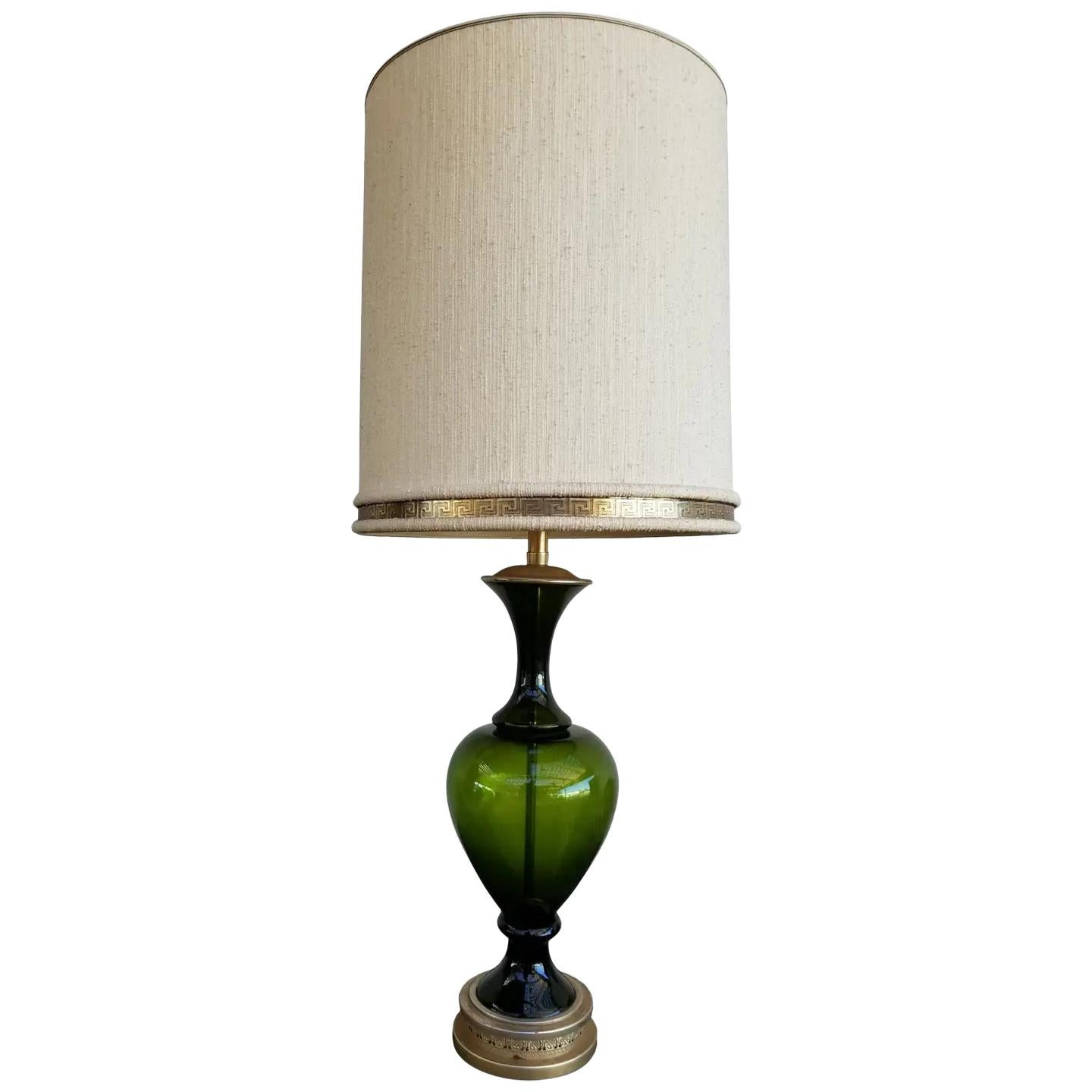 Marbro Turned Glass Table Lamp
