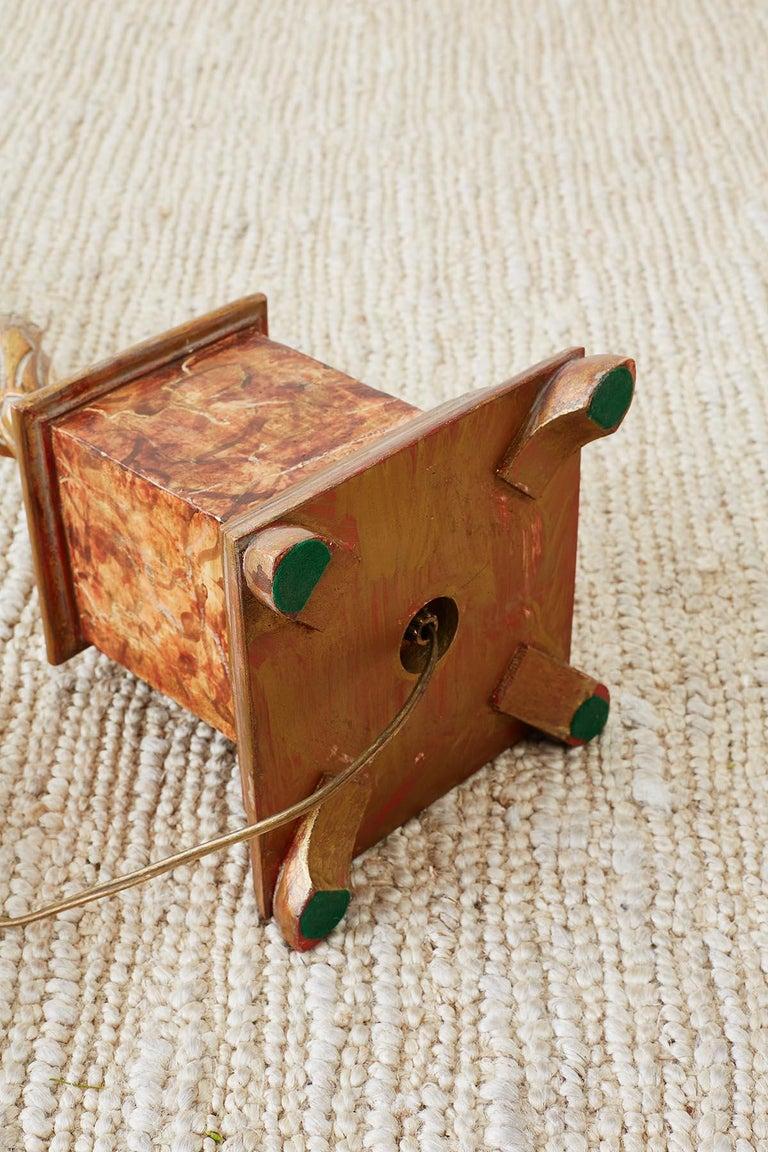 Marbro Venetian Style Giltwood Column Table Lamp For Sale 10