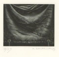 Marc Balakjian (1940-2017) - Signed 1983 Mezzotint, Fabric Study