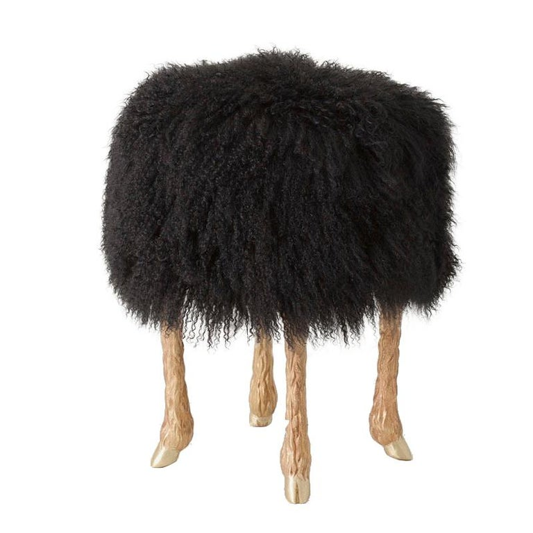 Marc Bankowsky Pieds de bouc stool, 2013, offered by Maison Gerard