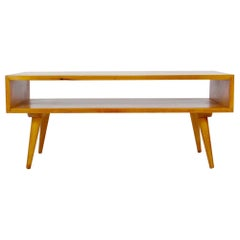 Marc Berge Maple Magazine Coffee Table, Bench, 1950's
