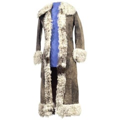 Marc Bolan's genuine owned and worn Afghan coat
