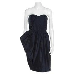 Marc by Marc Jacobs Black Asymmetric Peg Ellsworth Strapless Dress L