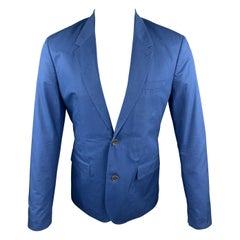 MARC by MARC JACOBS Blue Cotton Notch Lapel Sport Coat