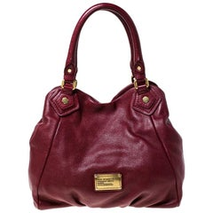 Marc by Marc Jacobs Burgundy Leather Tote