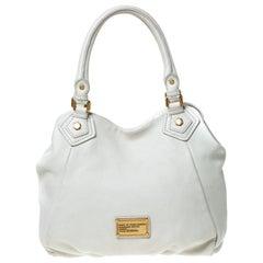 Marc by Marc Jacobs Cream Leather Classic Q Francesca Shoulder Bag