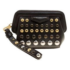 Marc by Marc Jacobs Dark Brown Leather Studded ThuMarc by Marc Janderdome Clutch