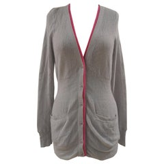 Marc by Marc Jacobs grey cachemire cardigan sweater