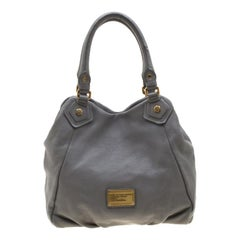 Marc by Marc Jacobs Grey Leather Classic Q Francesca Shoulder Bag