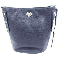 Marc By Marc Jacobs M0007255-484 C Lock Bucket Navy Blue Crossbody Women's Bag