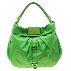 Marc By Marc Jacobs Neon Green Leather Workwear Hobo