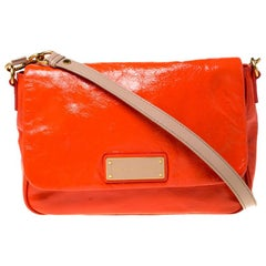 Marc By Marc Jacobs Orange Patent Leather Too Hot To Handle Lea Crossbody Bag