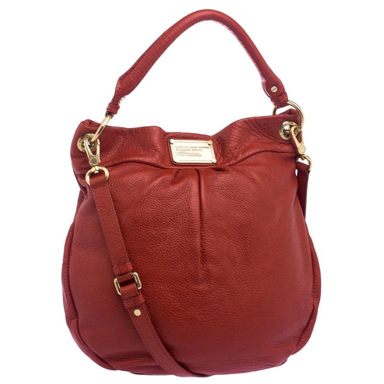 c286e02240 Marc by Marc Jacobs Red Leather Classic Q Hillier Hobo For Sale at 1stdibs