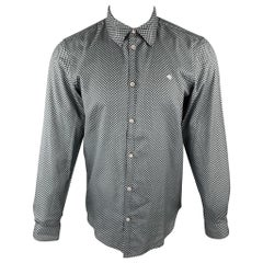 MARC by MARC JACOBS Size S Gray & Black Checkered Cotton Long Sleeve Shirt