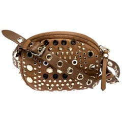 Marc by Marc Jacobs Tan Studded Leather Round Crossbody Bag