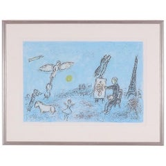 Marc Chagall, Color Lithograph from Ur Derriere Le Miroir Number 256