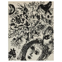 Marc Chagall 'Couple In Front Of A Tree' Lithograph