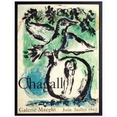 Marc Chagall Exhibition Poster, Galerie Maeght, Mourlot, 1962