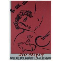 Vintage Poster Original Marc Chagall Musée des Arts Décoratifs Exhibition Poster