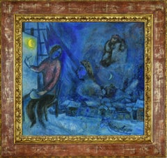 Hommage au Passé ou la Ville by Marc Chagall - School of Paris, Modern Art
