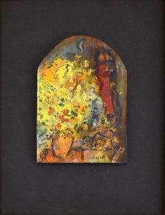 Lovers with Bouquet  Les Amoureux au bouquet - Russian Art Oil Painting