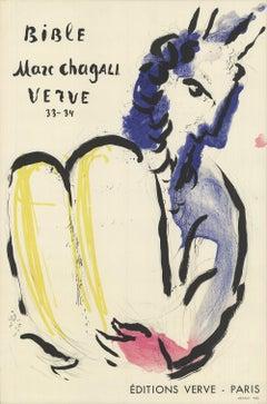 1956 After Marc Chagall 'Bible Verve, 1956' Modernism Lithograph