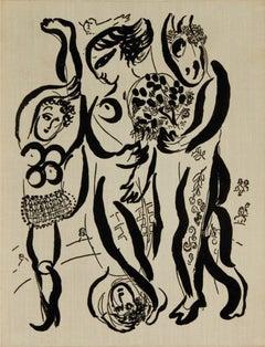1957 Marc Chagall 'Marc Chagall Das Graphische Werk' Modernism Black & White