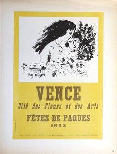 1959 After Marc Chagall 'Vence Fetes de Paques' Modernism France Lithograph