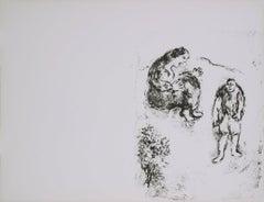 1960 Marc Chagall 'Dans L'Atelier' Modernism Black & White France Lithograph