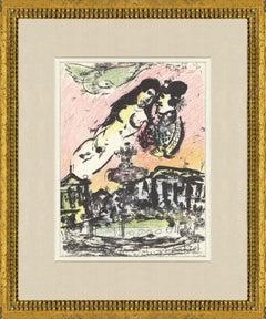 1963 Marc Chagall 'The Sky from the Place de la Concorde' Modernism Multicolor,B